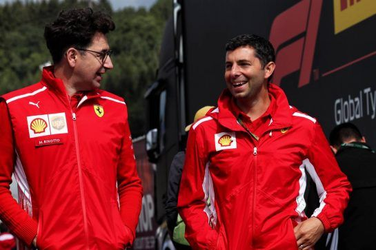 Mattia Binotto (ITA) Ferrari Chief Technical Officer (Left). 25.08.2018. Formula 1 World Championship, Rd 13, Belgian Grand Prix, Spa Francorchamps, Belgium, Qualifying Day. - www.xpbimages.com, EMail: requests@xpbimages.com - copy of publication required for printed pictures. Every used picture is fee-liable. © Copyright: Photo4 / XPB Images