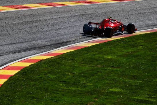Kimi Raikkonen (FIN) Ferrari SF71H. 25.08.2018. Formula 1 World Championship, Rd 13, Belgian Grand Prix, Spa Francorchamps, Belgium, Qualifying Day. - www.xpbimages.com, EMail: requests@xpbimages.com - copy of publication required for printed pictures. Every used picture is fee-liable. © Copyright: Photo4 / XPB Images