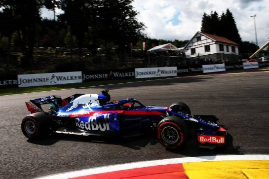 Brendon Hartley (NZL) Scuderia Toro Rosso STR13. 25.08.2018. Formula 1 World Championship, Rd 13, Belgian Grand Prix, Spa Francorchamps, Belgium, Qualifying Day. - www.xpbimages.com, EMail: requests@xpbimages.com - copy of publication required for printed pictures. Every used picture is fee-liable. © Copyright: Photo4 / XPB Images