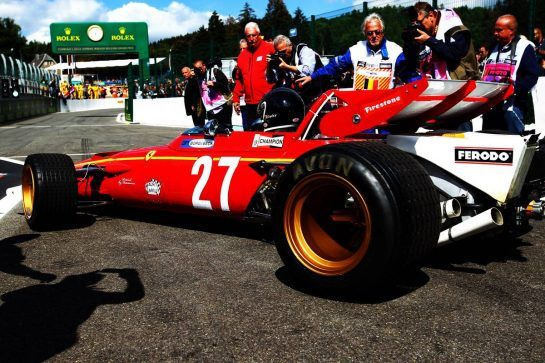Jacky Ickx (BEL) in a Ferrari 312B. 26.08.2018. Formula 1 World Championship, Rd 13, Belgian Grand Prix, Spa Francorchamps, Belgium, Race Day. - www.xpbimages.com, EMail: requests@xpbimages.com - copy of publication required for printed pictures. Every used picture is fee-liable. © Copyright: Photo4 / XPB Images