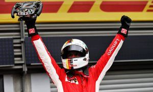 Vettel wins at Spa with first-lap pass on Hamilton