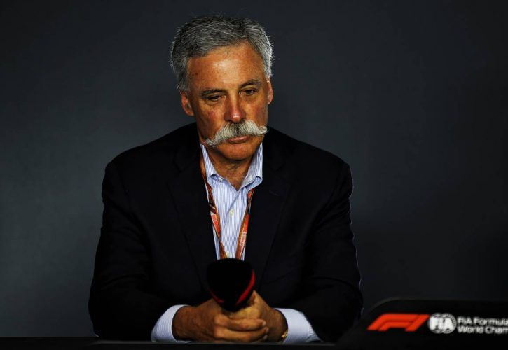 Chase Carey (USA) Formula One Group Chairman, announces a Japanese Grand Prix contract extension at Suzuka.