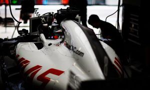 Haas has 'lucky escape' from garage fire, but loses tyres