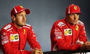 Annoyed Vettel 'not good enough' after losing pole to Raikkonen