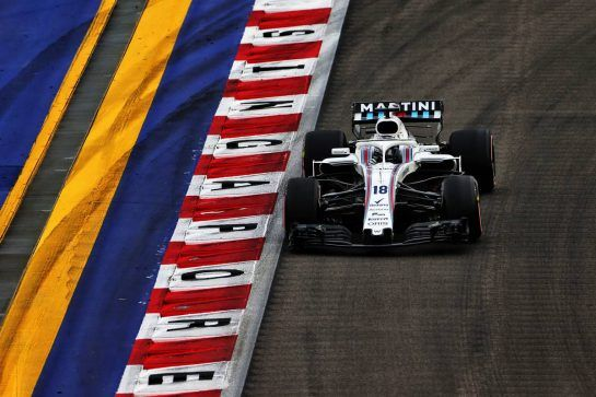 Lance Stroll (CDN) Williams FW41. 15.09.2018. Formula 1 World Championship, Rd 15, Singapore Grand Prix, Marina Bay Street Circuit, Singapore, Qualifying Day. - www.xpbimages.com, EMail: requests@xpbimages.com - copy of publication required for printed pictures. Every used picture is fee-liable. © Copyright: Moy / XPB Images