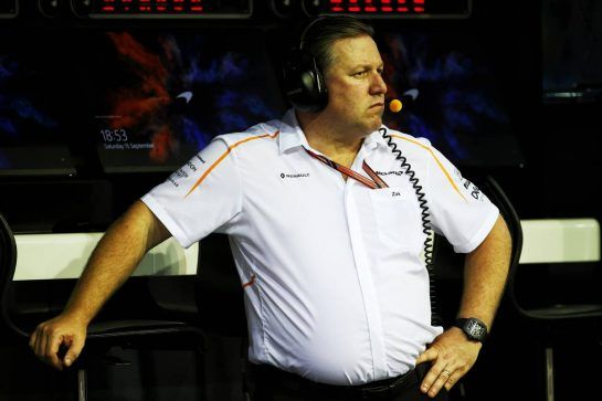 Zak Brown (USA) McLaren Executive Director. 15.09.2018. Formula 1 World Championship, Rd 15, Singapore Grand Prix, Marina Bay Street Circuit, Singapore, Qualifying Day. - www.xpbimages.com, EMail: requests@xpbimages.com - copy of publication required for printed pictures. Every used picture is fee-liable. © Copyright: Batchelor / XPB Images