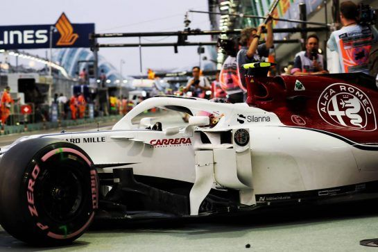 Charles Leclerc (MON) Sauber F1 Team C37. 15.09.2018. Formula 1 World Championship, Rd 15, Singapore Grand Prix, Marina Bay Street Circuit, Singapore, Qualifying Day. - www.xpbimages.com, EMail: requests@xpbimages.com - copy of publication required for printed pictures. Every used picture is fee-liable. © Copyright: Photo4 / XPB Images