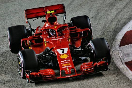 Kimi Raikkonen (FIN) Ferrari SF71H. 15.09.2018. Formula 1 World Championship, Rd 15, Singapore Grand Prix, Marina Bay Street Circuit, Singapore, Qualifying Day. - www.xpbimages.com, EMail: requests@xpbimages.com - copy of publication required for printed pictures. Every used picture is fee-liable. © Copyright: Moy / XPB Images