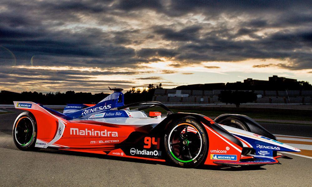 Mahindra Racing's car livery for season 5 of Formula E