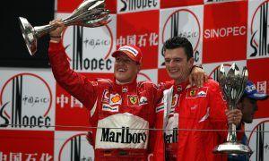 Michael Schumacher's last winning celebration