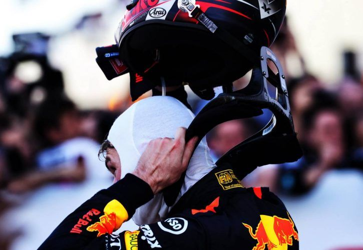 Max Verstappen (NLD) Red Bull Racing in parc ferme.