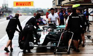 Hamilton splashes his way to the top in wet Austin FP1