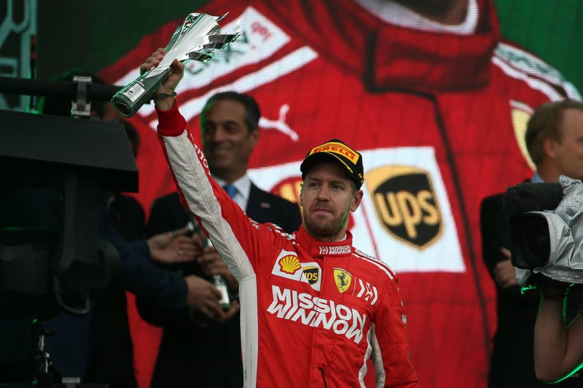 2nd place Sebastian Vettel (GER) Ferrari SF71H.