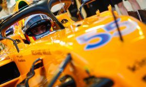 """Sainz feeling """"extremely good"""" after first day with McLaren"""