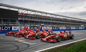 A Ferrari formation, ready to roar