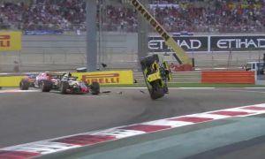 Hulkenberg puts dramatic barrel roll on 'racing incident'