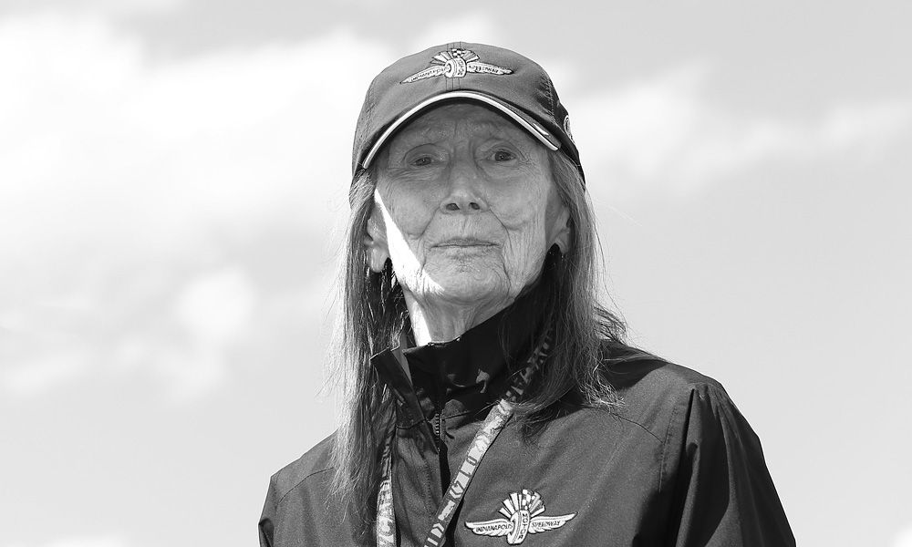 Mari Hulman George at IMS. (Photo by: Chris Jones for IndyCar Media)