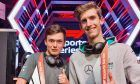 Mercedes-AMG Petronas Esports drivers Edward Leigh and Daniel Bereznay.