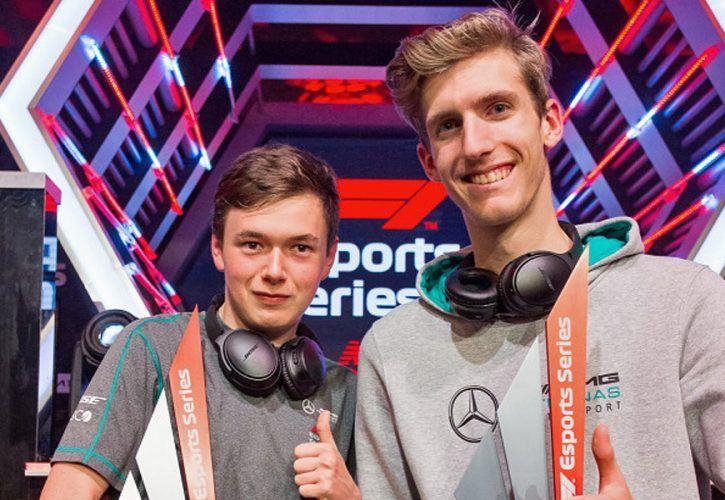 Mercedes-AMG Petronas Esports drivers Edward Leigh and Daniel Bereznay.