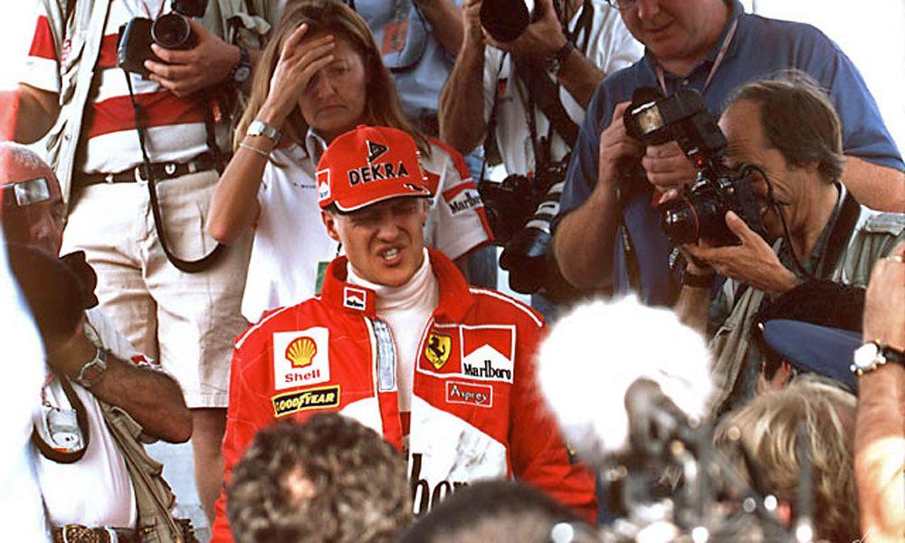 Michael Schumacher at the Japanese Grand Prix in Suzuka.