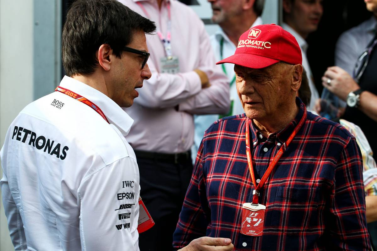 Toto Wolff (GER) Mercedes AMG F1 Shareholder and Executive Director with Niki Lauda (AUT) Mercedes Non-Executive Chairman.