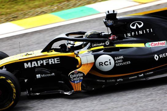 Nico Hulkenberg (GER) Renault Sport F1 Team RS18. 09.11.2018. Formula 1 World Championship, Rd 20, Brazilian Grand Prix, Sao Paulo, Brazil, Practice Day. - www.xpbimages.com, EMail: requests@xpbimages.com - copy of publication required for printed pictures. Every used picture is fee-liable. © Copyright: Moy / XPB Images