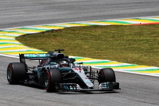 Lewis Hamilton (GBR) Mercedes AMG F1 W09. 09.11.2018. Formula 1 World Championship, Rd 20, Brazilian Grand Prix, Sao Paulo, Brazil, Practice Day. - www.xpbimages.com, EMail: requests@xpbimages.com - copy of publication required for printed pictures. Every used picture is fee-liable. © Copyright: Charniaux / XPB Images