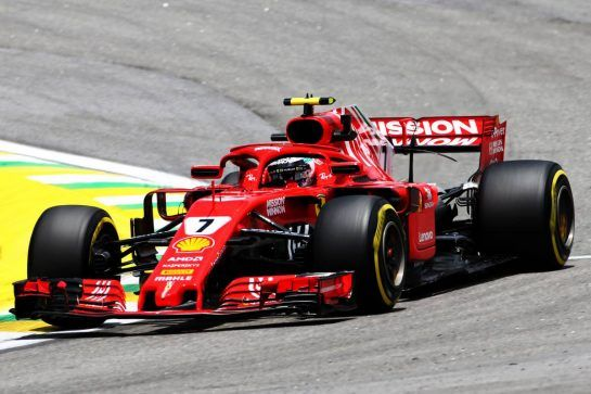 Kimi Raikkonen (FIN) Ferrari SF71H. 09.11.2018. Formula 1 World Championship, Rd 20, Brazilian Grand Prix, Sao Paulo, Brazil, Practice Day. - www.xpbimages.com, EMail: requests@xpbimages.com - copy of publication required for printed pictures. Every used picture is fee-liable. © Copyright: Charniaux / XPB Images