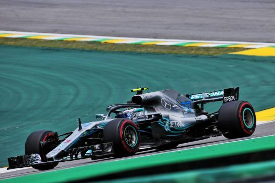 Valtteri Bottas (FIN) Mercedes AMG F1 W09. 09.11.2018. Formula 1 World Championship, Rd 20, Brazilian Grand Prix, Sao Paulo, Brazil, Practice Day. - www.xpbimages.com, EMail: requests@xpbimages.com - copy of publication required for printed pictures. Every used picture is fee-liable. © Copyright: Charniaux / XPB Images