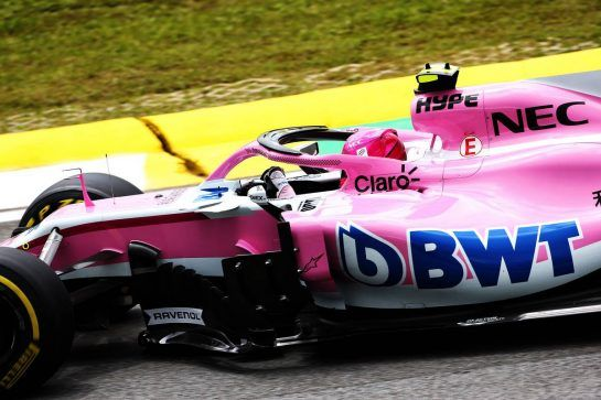 Esteban Ocon (FRA) Racing Point Force India F1 VJM11. 09.11.2018. Formula 1 World Championship, Rd 20, Brazilian Grand Prix, Sao Paulo, Brazil, Practice Day. - www.xpbimages.com, EMail: requests@xpbimages.com - copy of publication required for printed pictures. Every used picture is fee-liable. © Copyright: Moy / XPB Images