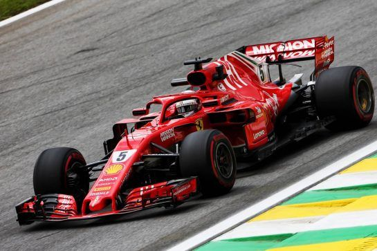 Sebastian Vettel (GER) Ferrari SF71H. 09.11.2018. Formula 1 World Championship, Rd 20, Brazilian Grand Prix, Sao Paulo, Brazil, Practice Day. - www.xpbimages.com, EMail: requests@xpbimages.com - copy of publication required for printed pictures. Every used picture is fee-liable. © Copyright: Moy / XPB Images