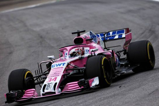 Nicholas Latifi (CDN) Racing Point Force India F1 VJM11 Development Driver. 09.11.2018. Formula 1 World Championship, Rd 20, Brazilian Grand Prix, Sao Paulo, Brazil, Practice Day. - www.xpbimages.com, EMail: requests@xpbimages.com - copy of publication required for printed pictures. Every used picture is fee-liable. © Copyright: Moy / XPB Images