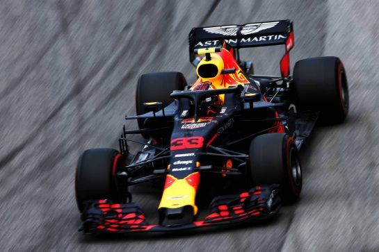 Max Verstappen (NLD) Red Bull Racing RB14. 09.11.2018. Formula 1 World Championship, Rd 20, Brazilian Grand Prix, Sao Paulo, Brazil, Practice Day. - www.xpbimages.com, EMail: requests@xpbimages.com - copy of publication required for printed pictures. Every used picture is fee-liable. © Copyright: Moy / XPB Images