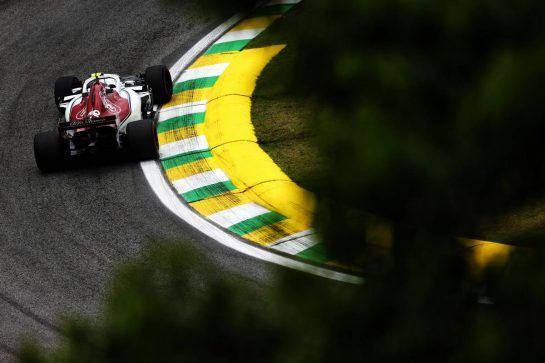 Charles Leclerc (MON) Sauber F1 Team C37. 09.11.2018. Formula 1 World Championship, Rd 20, Brazilian Grand Prix, Sao Paulo, Brazil, Practice Day. - www.xpbimages.com, EMail: requests@xpbimages.com - copy of publication required for printed pictures. Every used picture is fee-liable. © Copyright: Moy / XPB Images