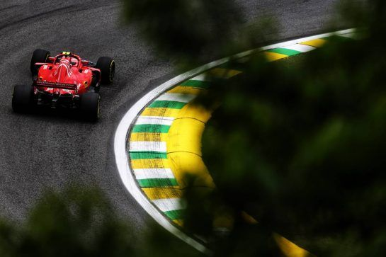 Kimi Raikkonen (FIN) Ferrari SF71H. 09.11.2018. Formula 1 World Championship, Rd 20, Brazilian Grand Prix, Sao Paulo, Brazil, Practice Day. - www.xpbimages.com, EMail: requests@xpbimages.com - copy of publication required for printed pictures. Every used picture is fee-liable. © Copyright: Moy / XPB Images