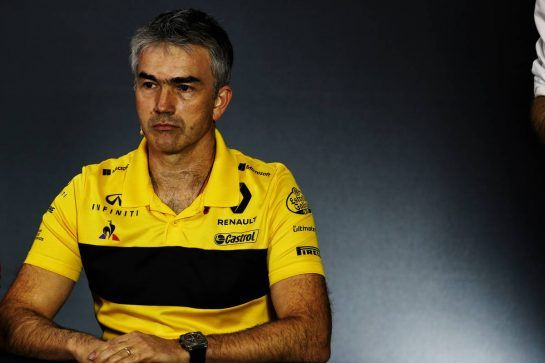 Nick Chester (GBR) Renault Sport F1 Team Chassis Technical Director in the FIA Press Conference. 09.11.2018. Formula 1 World Championship, Rd 20, Brazilian Grand Prix, Sao Paulo, Brazil, Practice Day. - www.xpbimages.com, EMail: requests@xpbimages.com - copy of publication required for printed pictures. Every used picture is fee-liable. © Copyright: Batchelor / XPB Images