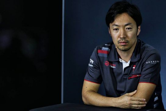 Ayao Komatsu (JPN) Haas F1 Team Race Engineer in the FIA Press Conference. 09.11.2018. Formula 1 World Championship, Rd 20, Brazilian Grand Prix, Sao Paulo, Brazil, Practice Day. - www.xpbimages.com, EMail: requests@xpbimages.com - copy of publication required for printed pictures. Every used picture is fee-liable. © Copyright: Batchelor / XPB Images