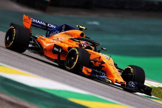 Stoffel Vandoorne (BEL) McLaren MCL33. 09.11.2018. Formula 1 World Championship, Rd 20, Brazilian Grand Prix, Sao Paulo, Brazil, Practice Day. - www.xpbimages.com, EMail: requests@xpbimages.com - copy of publication required for printed pictures. Every used picture is fee-liable. © Copyright: Photo4 / XPB Images