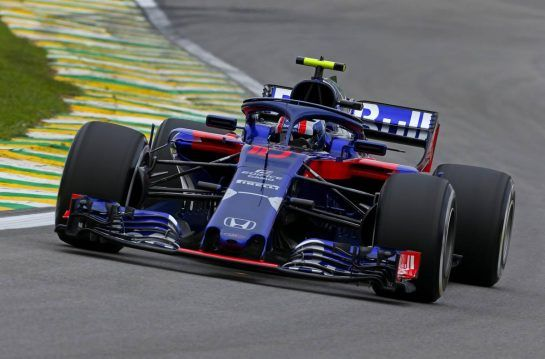 Pierre Gasly (FRA) Scuderia Toro Rosso 09.11.2018. Formula 1 World Championship, Rd 20, Brazilian Grand Prix, Sao Paulo, Brazil, Practice Day.- www.xpbimages.com, EMail: requests@xpbimages.com - copy of publication required for printed pictures. Every used picture is fee-liable. © Copyright: Charniaux / XPB Images