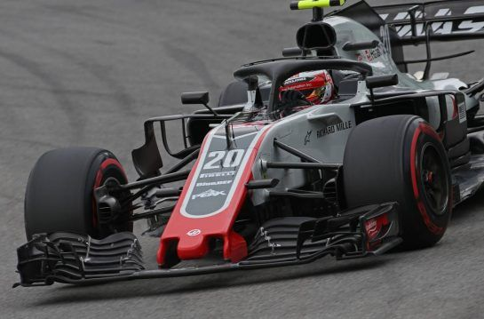 Kevin Magnussen (DEN) Haas F1 Team 09.11.2018. Formula 1 World Championship, Rd 20, Brazilian Grand Prix, Sao Paulo, Brazil, Practice Day.- www.xpbimages.com, EMail: requests@xpbimages.com - copy of publication required for printed pictures. Every used picture is fee-liable. © Copyright: Charniaux / XPB Images
