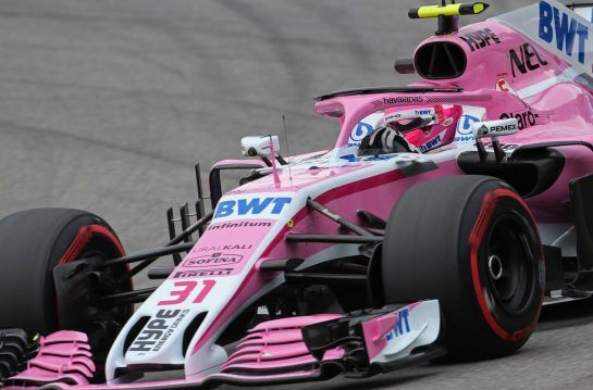Esteban Ocon (FRA) Force India F1 09.11.2018. Formula 1 World Championship, Rd 20, Brazilian Grand Prix, Sao Paulo, Brazil, Practice Day.- www.xpbimages.com, EMail: requests@xpbimages.com - copy of publication required for printed pictures. Every used picture is fee-liable. © Copyright: Charniaux / XPB Images
