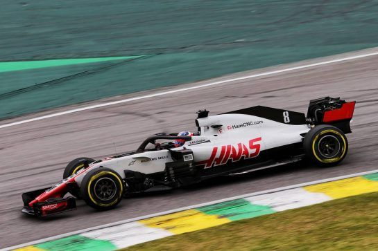 Romain Grosjean (FRA) Haas F1 Team VF-18. 10.11.2018. Formula 1 World Championship, Rd 20, Brazilian Grand Prix, Sao Paulo, Brazil, Qualifying Day. - www.xpbimages.com, EMail: requests@xpbimages.com - copy of publication required for printed pictures. Every used picture is fee-liable. © Copyright: Moy / XPB Images