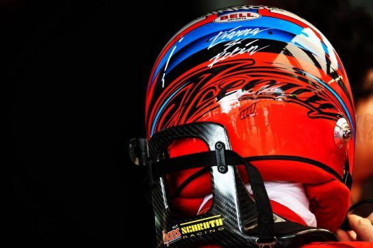 Kimi Raikkonen (FIN) Ferrari - helmet. 10.11.2018. Formula 1 World Championship, Rd 20, Brazilian Grand Prix, Sao Paulo, Brazil, Qualifying Day. - www.xpbimages.com, EMail: requests@xpbimages.com - copy of publication required for printed pictures. Every used picture is fee-liable. © Copyright: Batchelor / XPB Images