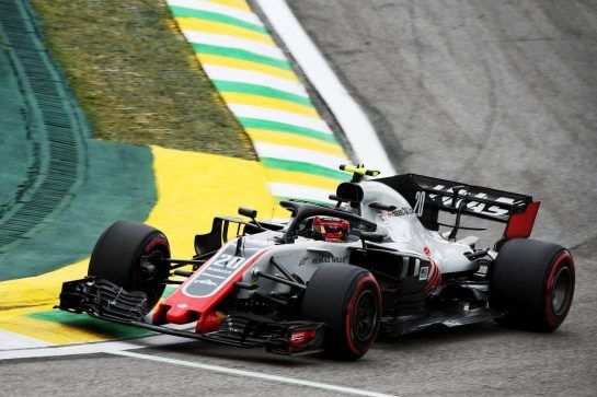 Kevin Magnussen (DEN) Haas VF-18. 10.11.2018. Formula 1 World Championship, Rd 20, Brazilian Grand Prix, Sao Paulo, Brazil, Qualifying Day. - www.xpbimages.com, EMail: requests@xpbimages.com - copy of publication required for printed pictures. Every used picture is fee-liable. © Copyright: Batchelor / XPB Images