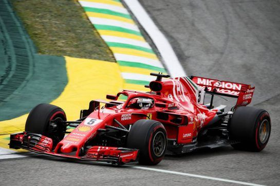 Sebastian Vettel (GER) Ferrari SF71H. 10.11.2018. Formula 1 World Championship, Rd 20, Brazilian Grand Prix, Sao Paulo, Brazil, Qualifying Day. - www.xpbimages.com, EMail: requests@xpbimages.com - copy of publication required for printed pictures. Every used picture is fee-liable. © Copyright: Batchelor / XPB Images