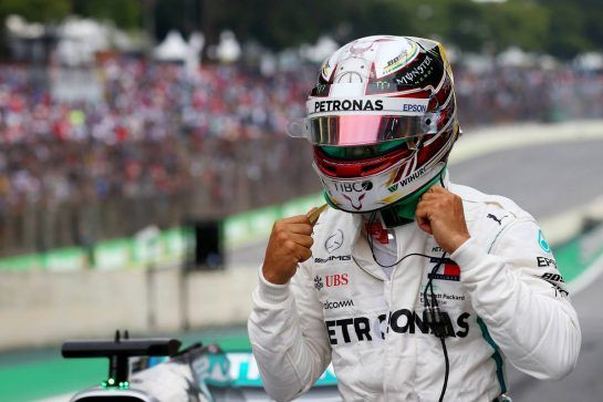 Pole for Lewis Hamilton (GBR) Mercedes10.11.2018. Formula 1 World Championship, Rd 20, Brazilian Grand Prix, Sao Paulo, Brazil, Qualifying Day.- www.xpbimages.com, EMail: requests@xpbimages.com - copy of publication required for printed pictures. Every used picture is fee-liable. © Copyright: Batchelor / XPB Images
