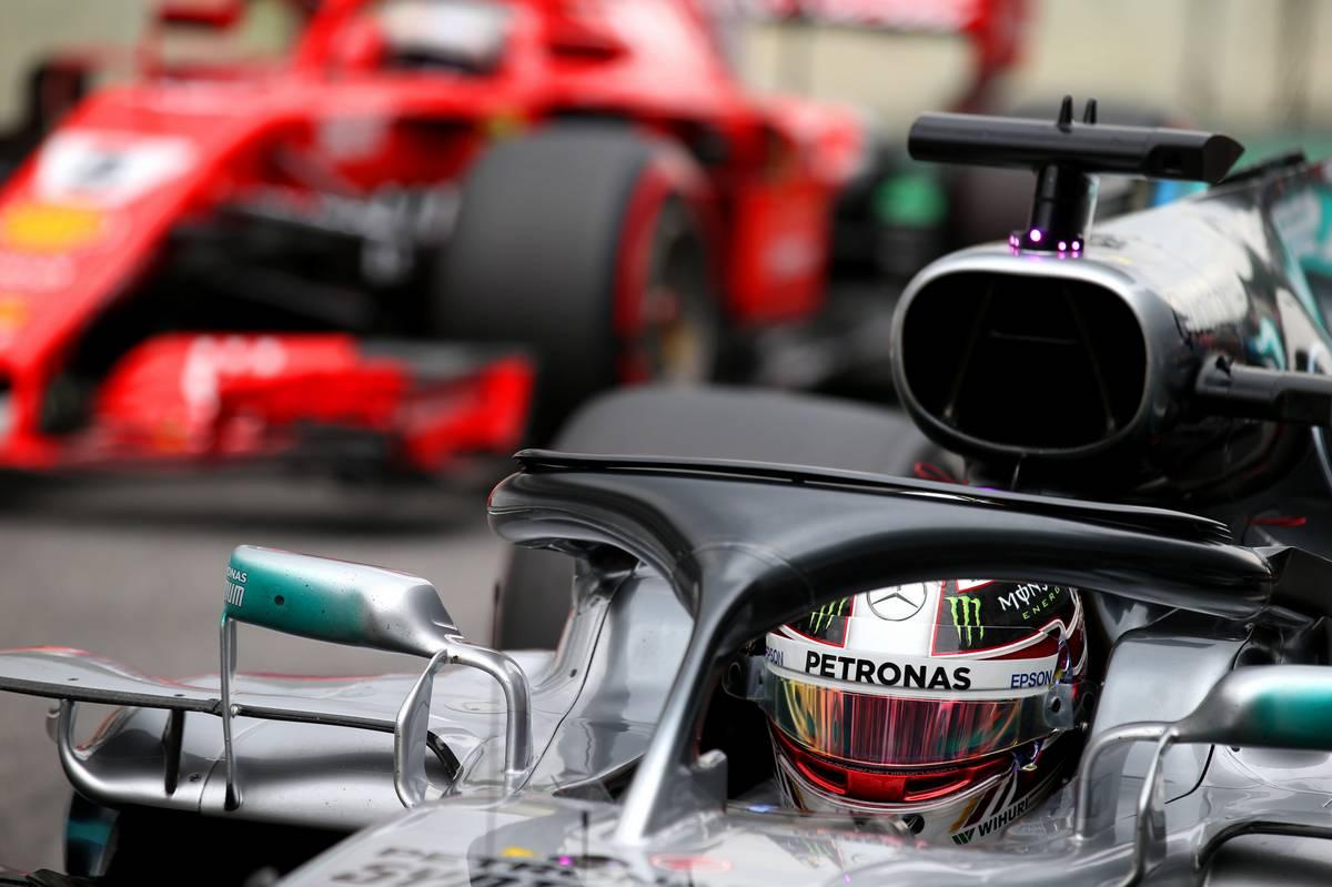 Pole for Lewis Hamilton (GBR) Mercedes and 2nd for Sebastian Vettel