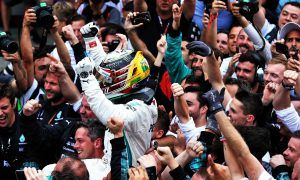 Mercedes celebrates after crowning a 'very difficult season'