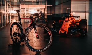 McLaren goes cycling with Vincenzo Nibali and Team Bahrain-Merida!