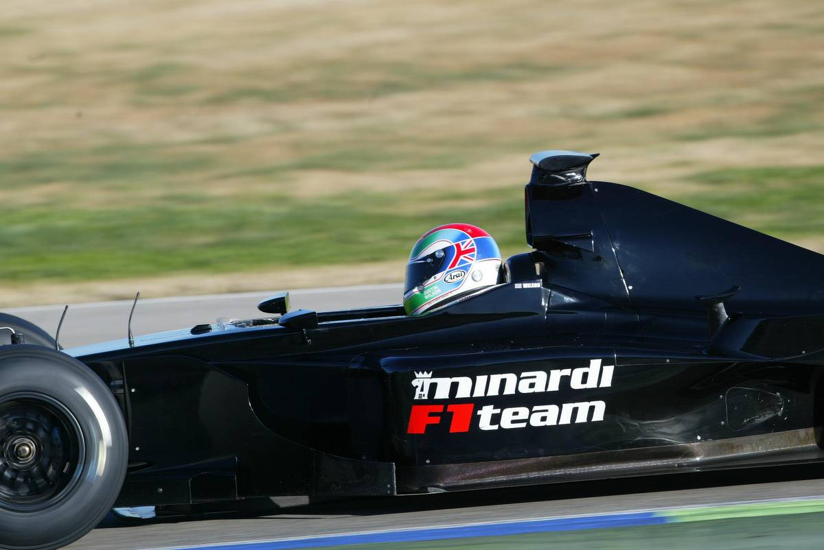 Justin Wilson in pre-season testing - 2003